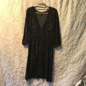 Banana Republic Black Stretch Dress Sz M